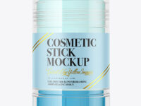 Clear Cosmetic Stick Mockup