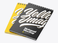 Two Vertical Notepads Mockup