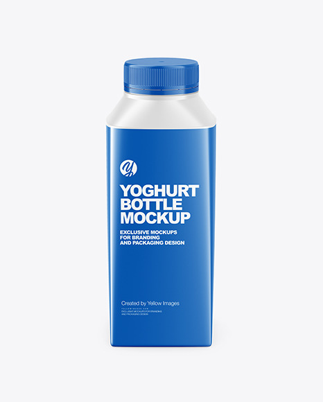 Yoghurt Bottle Mockup