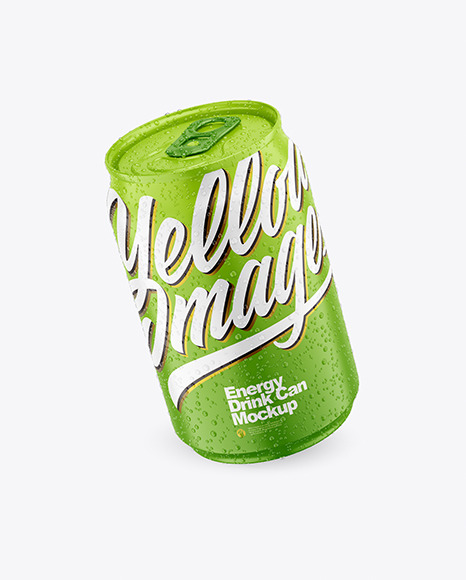 250ml Matte Drink Can With Condensation Mockup