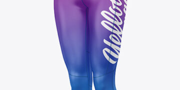 Women's Capri Leggings Mockup