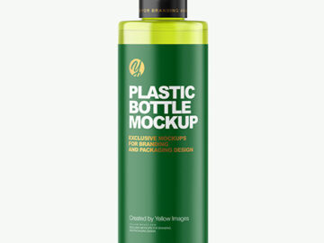 Color Plastic Cosmetic Bottle Mockup