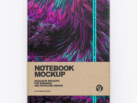 Leather Notebook With Paper Label Mockup