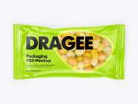 Dragee in a Glossy Package Mockup