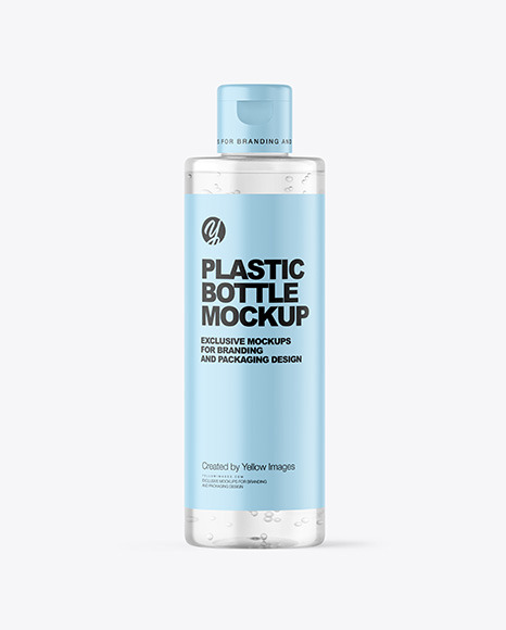 Clear Cosmetic Bottle Mockup