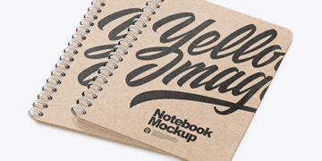 Kraft Notebooks Mockup