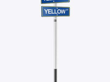 Street Sign Mockup - Half Side View