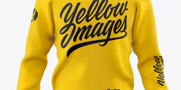 Men's Raglan Sweatshirt Mockup - Front View