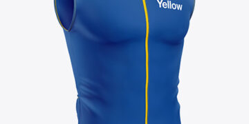 Men's Cycling Vest Mockup