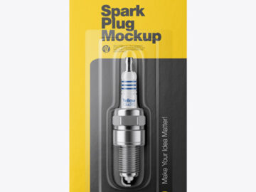 Spark Plug with Blister Pack Mockup