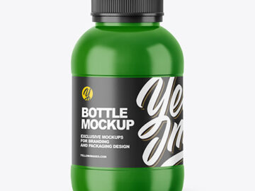 250ml Glossy Bottle Mockup