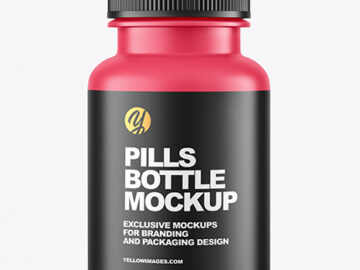 Matte Pills Bottle Mockup