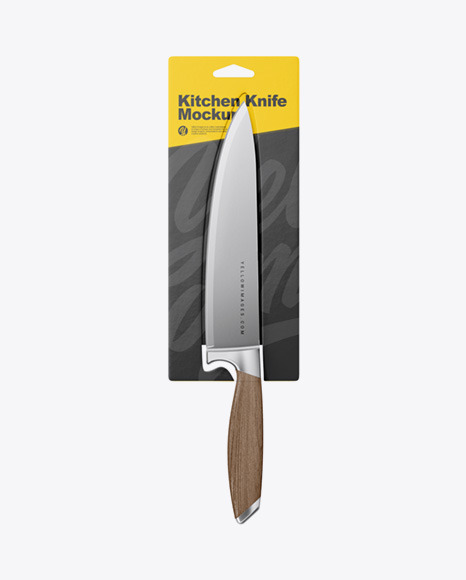 Kitchen Knife with Blister Pack Mockup
