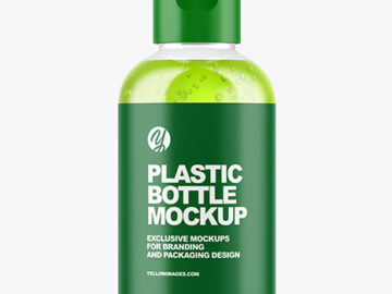 Color Liquid Cosmetic Bottle Mockup