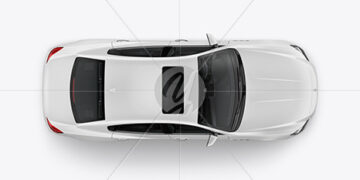 Luxury Sedan Mockup - Top View