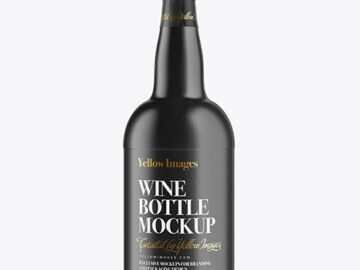 Ceramic Wine Bottle Mockup