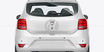 Hatchback Mockup - Back View