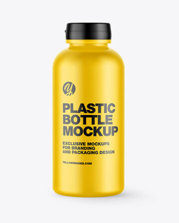 Plastic Matte Bottle Mockup