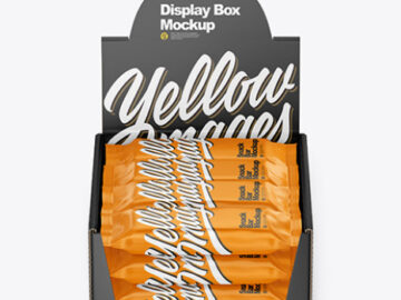 Display Box with Snack Bars Mockup