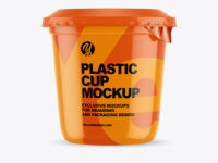 Plastic Glossy Cup Mockup