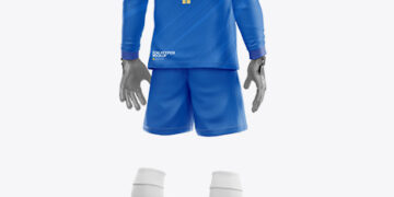Goalkeeper Mockup - Half Side View