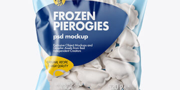 Plastic Bag With Frozen Pierogies Mockup