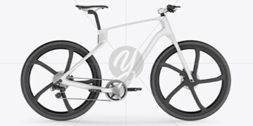 Carbon Electric Road Bike Mockup