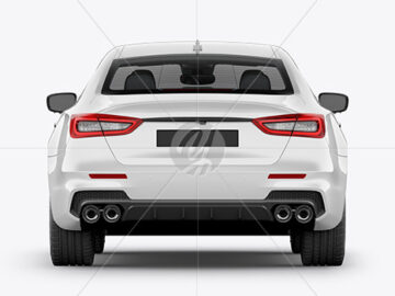 Luxury Sedan Mockup - Back View