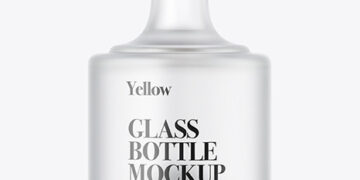 Frosted Glass Bottle Mockup