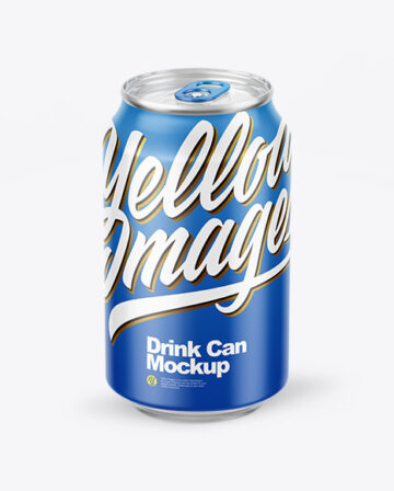 Glossy Drink Can Mockup