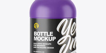 250ml Matte Plastic Bottle Mockup