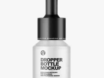Frosted Dropper Bottle Mockup