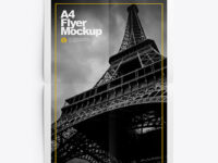 A4 Flyer Muckup – Top View