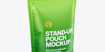 Matte Stand Up Pouch Mockup - Half Side View