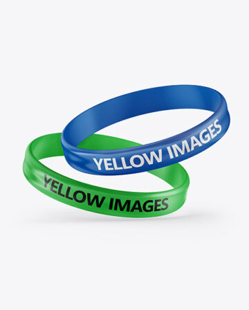 Two Glossy Silicone Wristbands