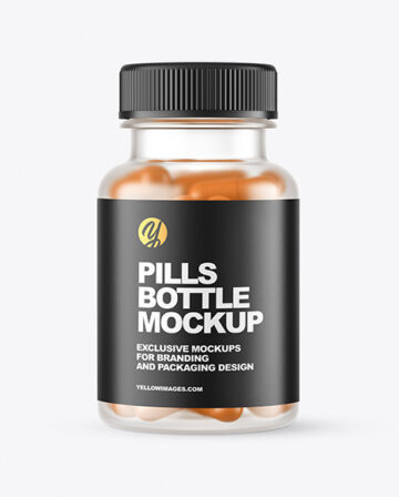 Frosted Pills Bottle Mockup