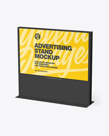 LED Display Stand Mockup