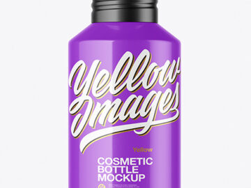 120ml Glossy Cosmetic Bottle Mockup