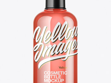 300ml Color Cosmetic Bottle Mockup