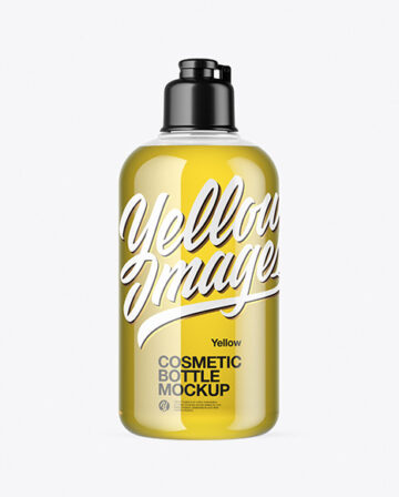 300ml Cosmetic Bottle with Oil Mockup