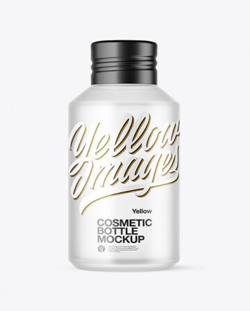 120ml Frosted Cosmetic Bottle Mockup