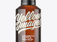 120ml Amber Cosmetic Bottle Mockup