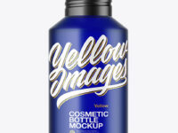 120ml Blue Frosted Cosmetic Bottle Mockup