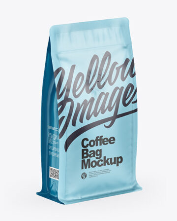 Matte Coffee Bag With Valve - Half Side View