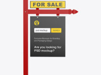 Real Estate Sign Mockup - Front View