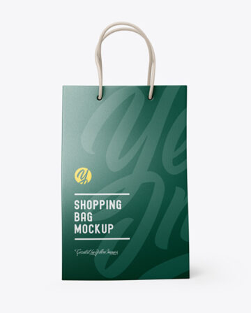 Leather Shopping Bag With Handles Mockup