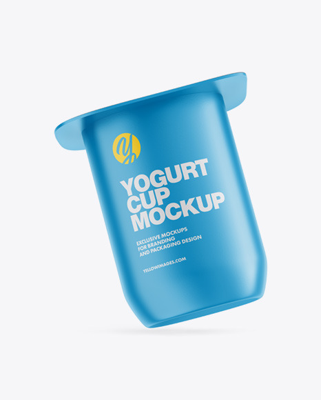 Yogurt Cup Mockup - Front View