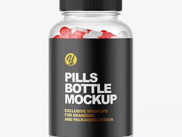 Clear Pill Bottle Mockup