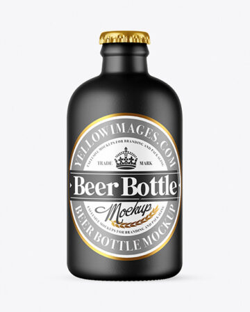 Ceramic Beer Bottle Mockup