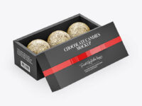 Box with Chocolates in Foil Mockup